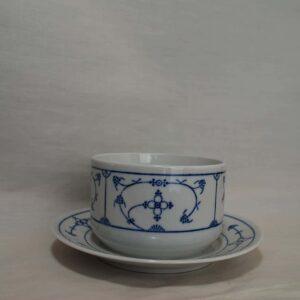 saksisch blauw sauskom vaste schotel (rond)