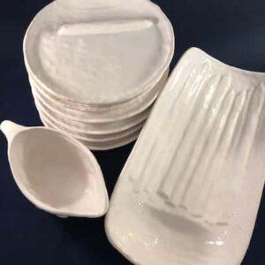 aspergeset aardewerk