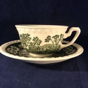 Villeroy en Boch 'Rusticana'groen kop en schotel