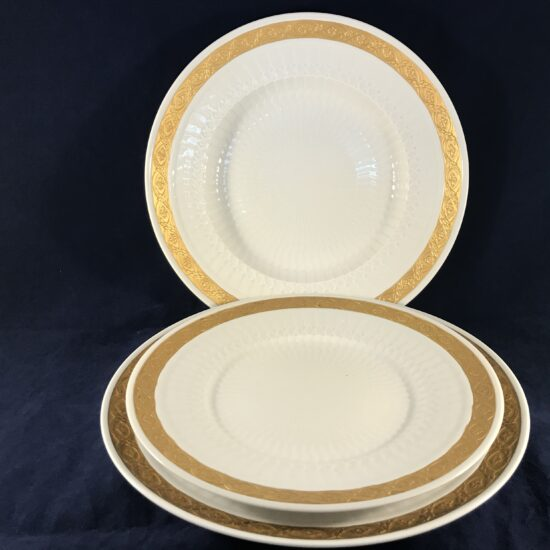 Royal Copenhagen 'Gold Fan' set borden