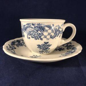Villeroy en Boch 'Valeria' blauw koffiekop en schotel