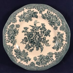 Enoch Wedgwood asiatic pheasants burslem green ontbijtbord